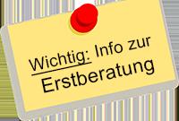 Wichtige Information zur Erstberatung